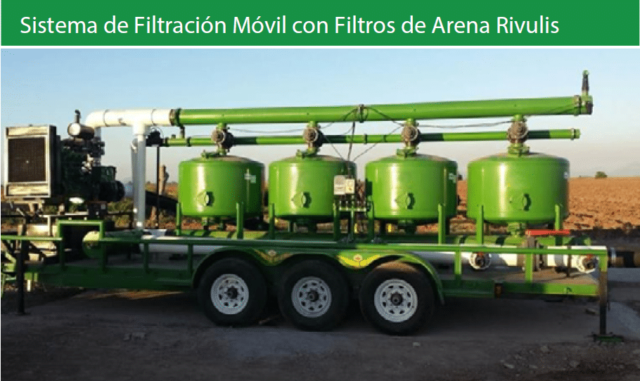 Mobile filtration system with Rivulis Media Filters